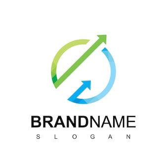 Kreis wachsendes geschäftsdiagramm-logo