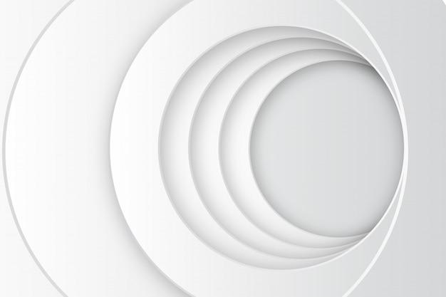 Kreis-weiße hintergrund-schablone