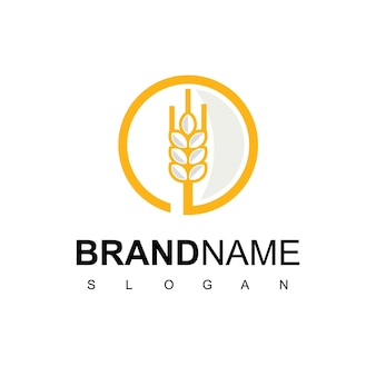 Kreis-weizen-logo-design-vorlage