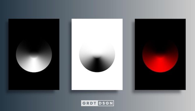 Kreisdesign mit farbverlauf für poster, flyer, broschürencover, typografie oder andere druckprodukte. vektor-illustration.