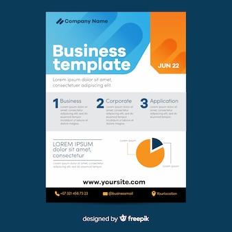 Kreisdiagramm geometrische business flyer vorlage