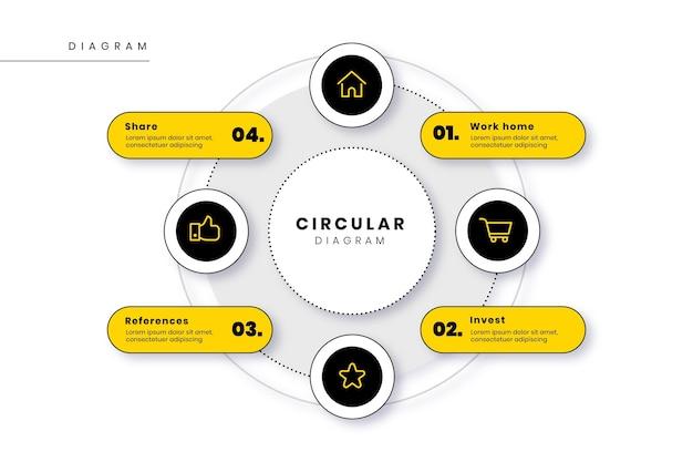 Kreisdiagramm infografik flaches design