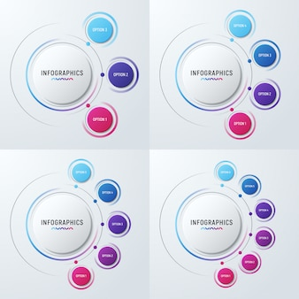 Kreisdiagramm infografik-vorlagen für präsentationen