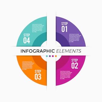 Kreisdiagramm infografik