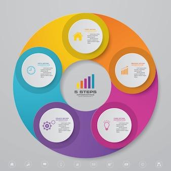 Kreisdiagramm infographik element