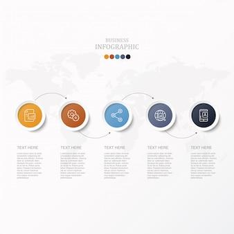 Kreise infografik für geschäftskonzept.