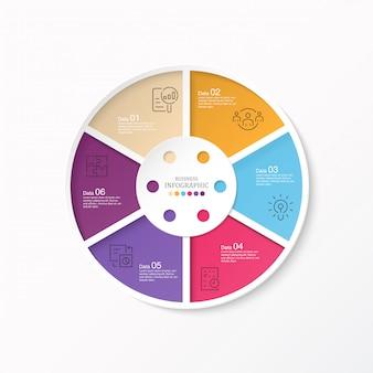 Kreise infografik und symbole