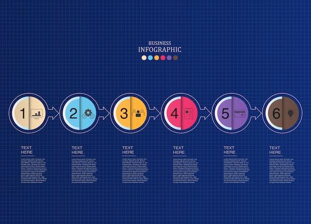 Kreise infografiken und symbole