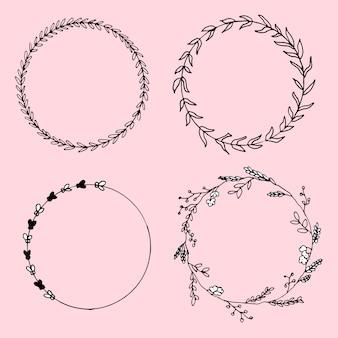 Kreise schwarz