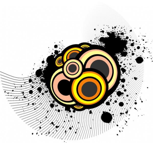 Kreise und farbpunkte