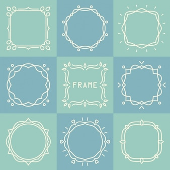 Kreise und quadrate mit linien gezeichnet