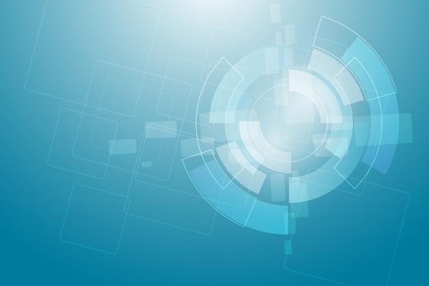 Kreisen sie blauen abstrakten technologieinnovationskonzept-vektorhintergrund ein