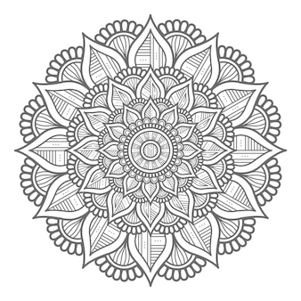 Kreisförmige art abstrakte und dekorative konzept mandala design