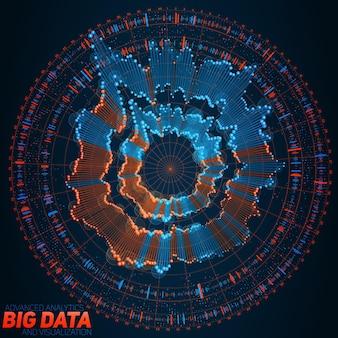 Kreisförmige big-data-visualisierung.