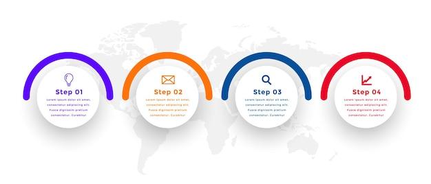 Kreisförmige infografik-vorlage im 3d-stil