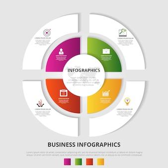 Kreisförmige infografiken