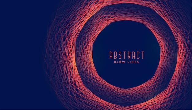 Kreisförmige linien leuchtender rahmen abstrakter hintergrund