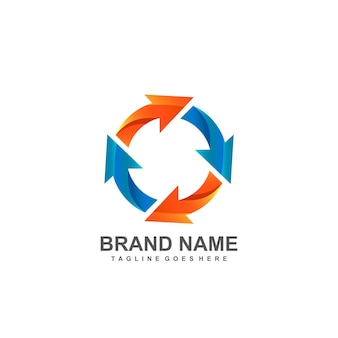 Kreisförmige pfeile logo-design