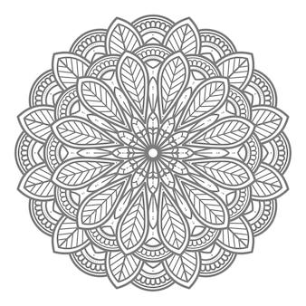 Kreisförmige und abstrakte mandala-illustration zur dekoration