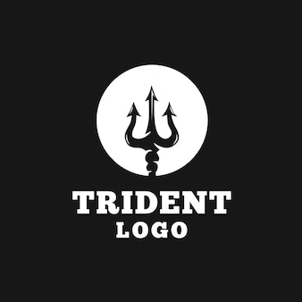 Kreisförmiger dreizack-logo-design