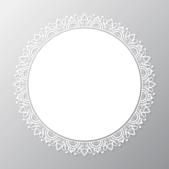 Kreisförmiger mandala-rahmen