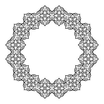 Kreisförmiges barockes muster