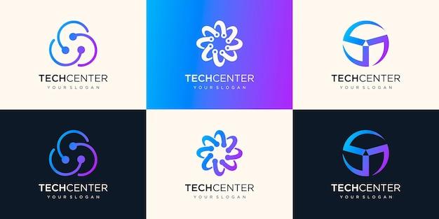 Kreisförmiges logo-symbol. technisches element.