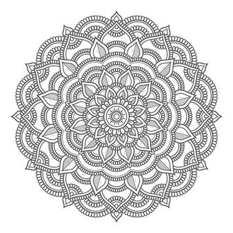 Kreisförmiges mandala für abstraktes und dekoratives konzept