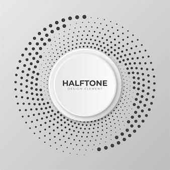 Kreisförmiges rasterpunktdesign