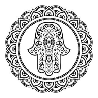 Kreismuster in form einer mandalaillustration