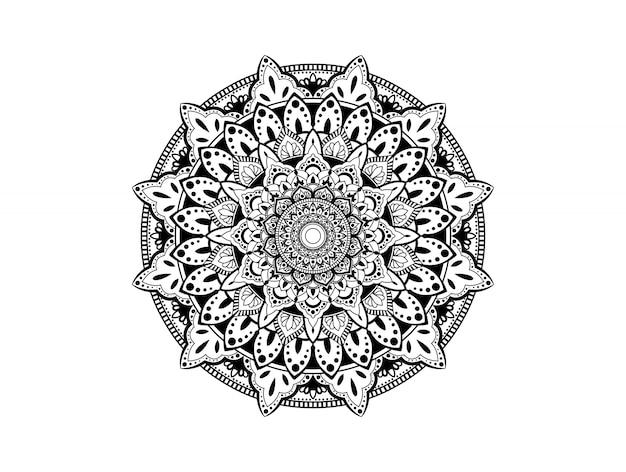 Kreismuster in form eines mandalas. dekorative verzierung im ethnisch orientalischen stil. malbuchseite.