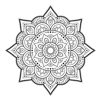 Kreismuster in form eines mandalas. dekorative verzierung im ethnisch orientalischen stil. umriss gekritzel hand zeichnen illustration.