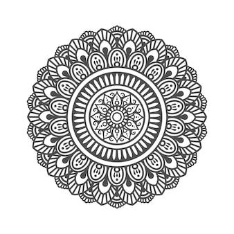 Kreismuster in form eines mandalas. dekorative verzierung im ethnisch orientalischen stil
