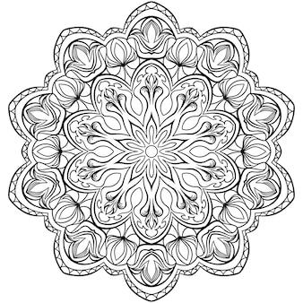 Kreismuster in form eines mandalas für henna