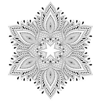 Kreismuster in form eines mandalas mit blume