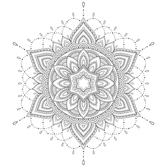 Kreismuster in form eines mandalas.