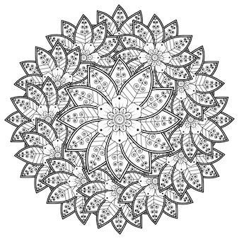 Kreismuster in form eines mandalas