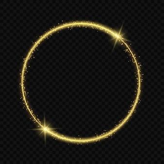 Kreisrahmen mit lichteffekt.