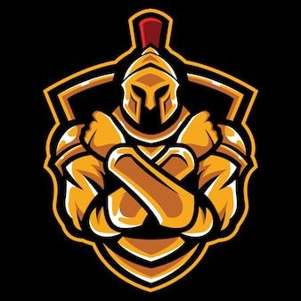 Kreuz arm knight esport logo illustration