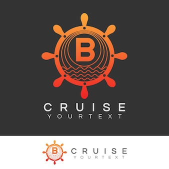Kreuzfahrt anfangsbuchstabe b logo design