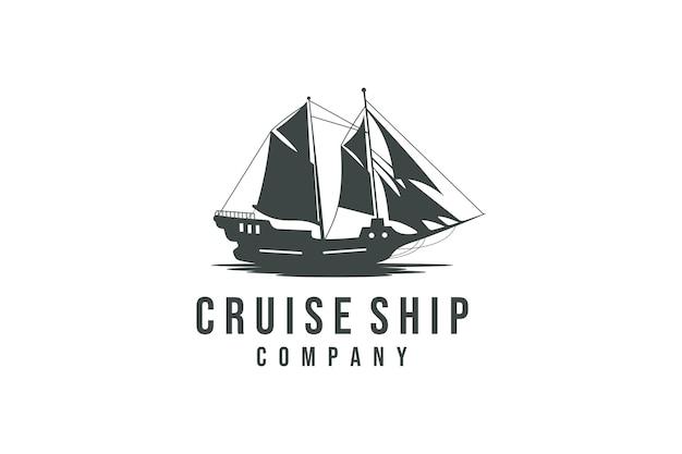 Kreuzfahrt- und schiffslogo