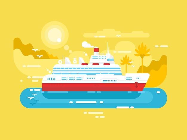 Kreuzfahrtschiff design flach