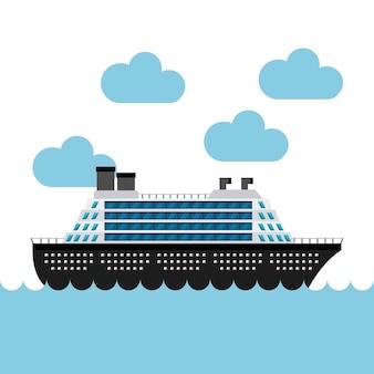 Kreuzfahrtschiff im meer