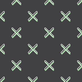 Kreuzmuster, abstrakter geometrischer hintergrund im retro-stil der 80er, 90er jahre. bunte geometrische illustration