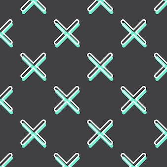 Kreuzmuster im 80er, 90er retro-stil. abstrakter geometrischer hintergrund