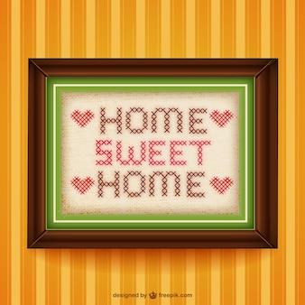 Kreuzstich home sweet home