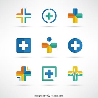 Kreuzt ärztliche logo-vorlagen