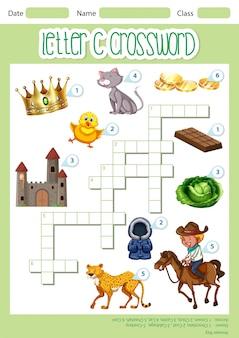 Kreuzworträtsel buchstabe c spielvorlage