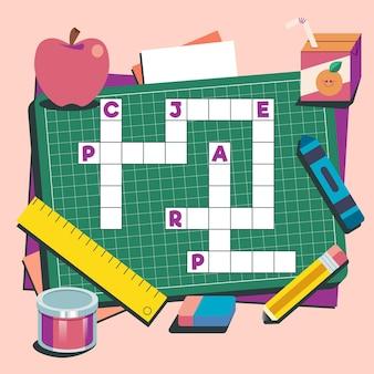 Kreuzworträtsel in der englischen arbeitsblattvorlage