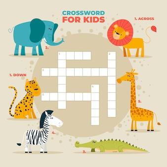 Kreuzworträtsel in englisch für kinder